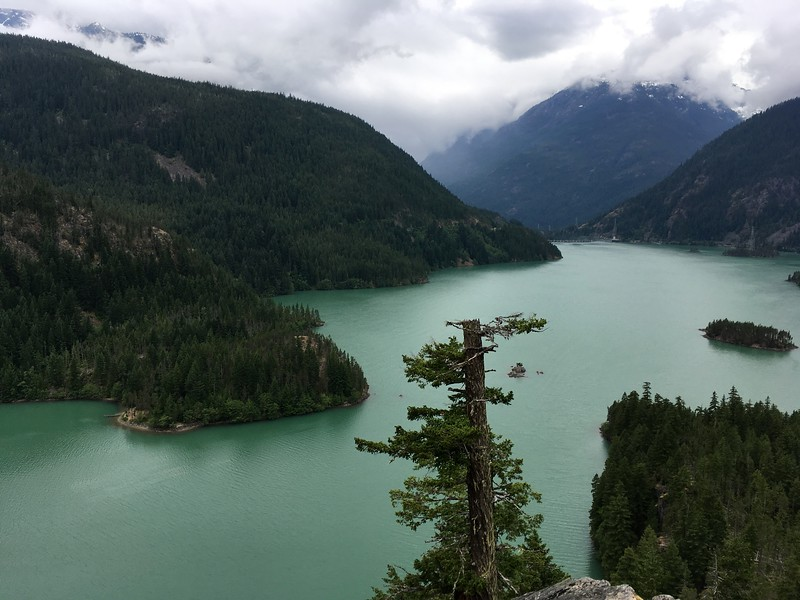 Views to the Diablo Lake Dam