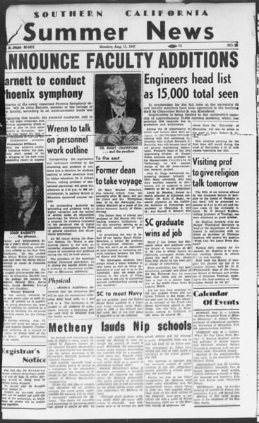 Summer News, Vol. 2, No. 20, August 11, 1947