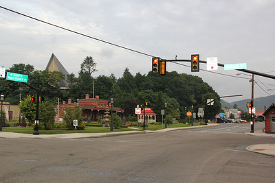 North Railroad St, Five Points Intersection, Tamaqua (8-23-2013)