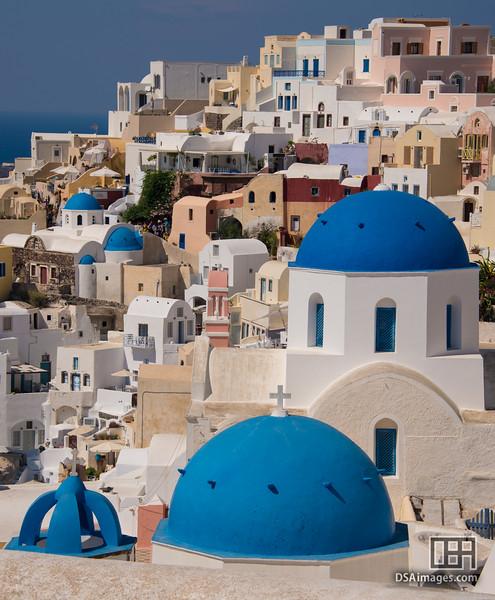 Blue domed churches of Oia, Santorini