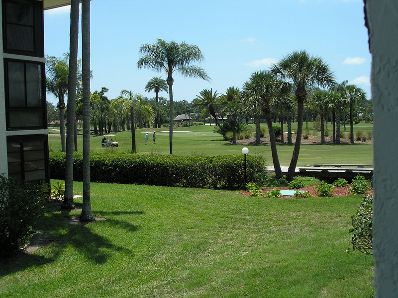 Golf course from 3rd floor stairwell of Building 5