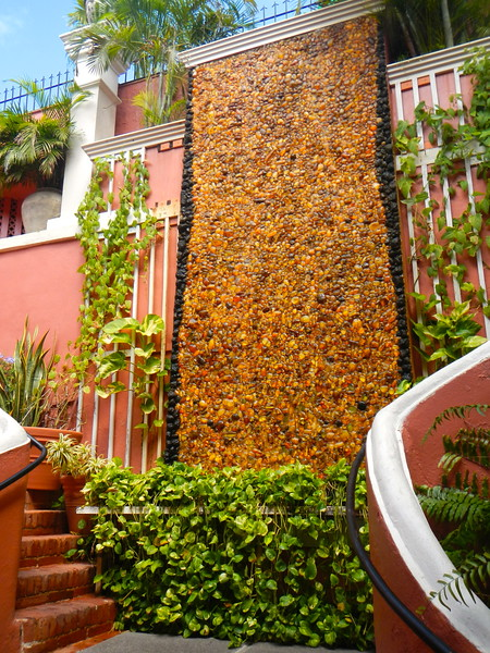 Waterfall made of 12,000 pieces of amber. Charlotte Amalie, St. Thomas