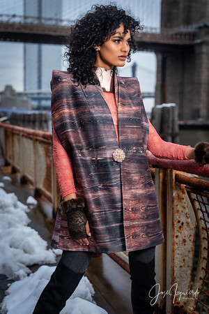 @tinyworldmodel Brooklyn Bridge Central Park Winter Fashion Photoshoot February 2021