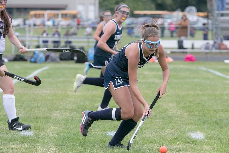 Dracut High School field hockey made its way to Fitchburg to play Montachusett Regional Vocational Technical School on Friday, September 6, 2019. DHS's Kiley Wilson. SENTINEL & ENTERPRISE/JOHN LOVE