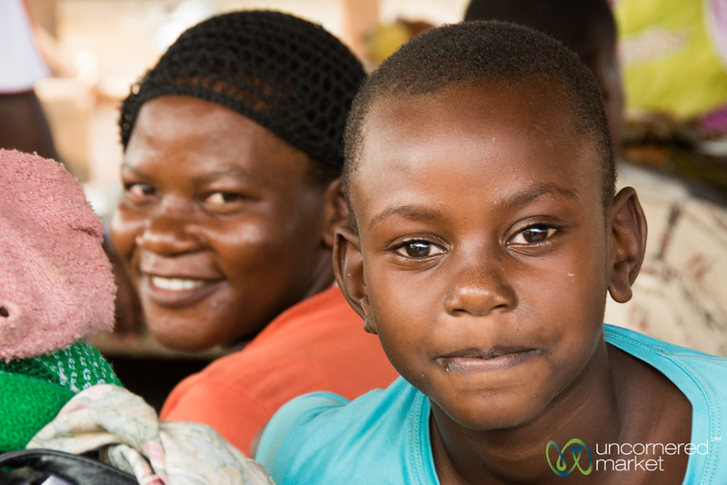 Mother and Son - Mengo Market, Kampala