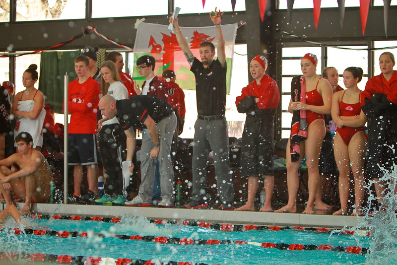 Senior Day Swim meet versus Davidson; Spring 2015
