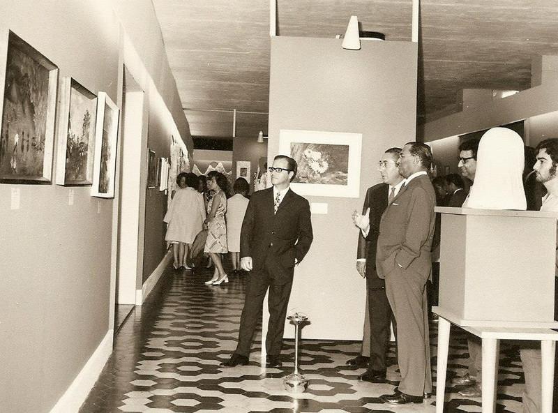 Alberto Costa ( a esposa ao fundo) , Moreira Rato, eng. Rego,  Luna de Carvalho  e Nene' Relvas
