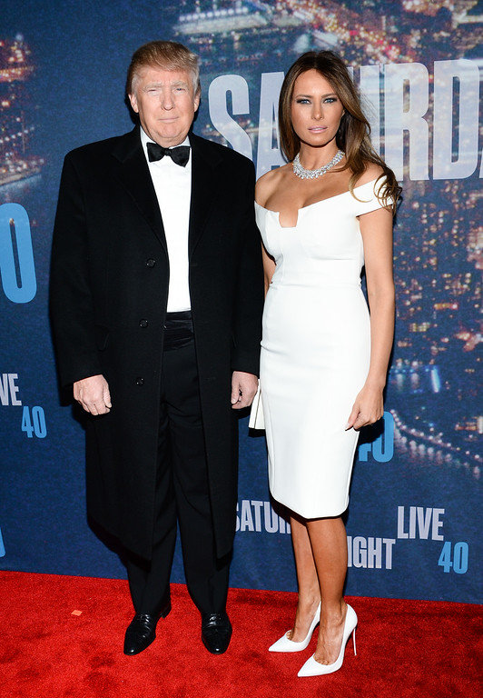 . Donald Trump and Melania Trump attend the SNL 40th Anniversary Special at Rockefeller Plaza on Sunday, Feb. 15, 2015, in New York. (Photo by Evan Agostini/Invision/AP)