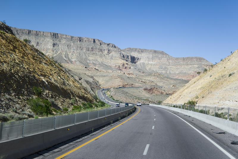 I-15 Arizona Cut Canyon