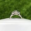 1.15ctw Emerald Cut Diamond Trilogy Ring 9