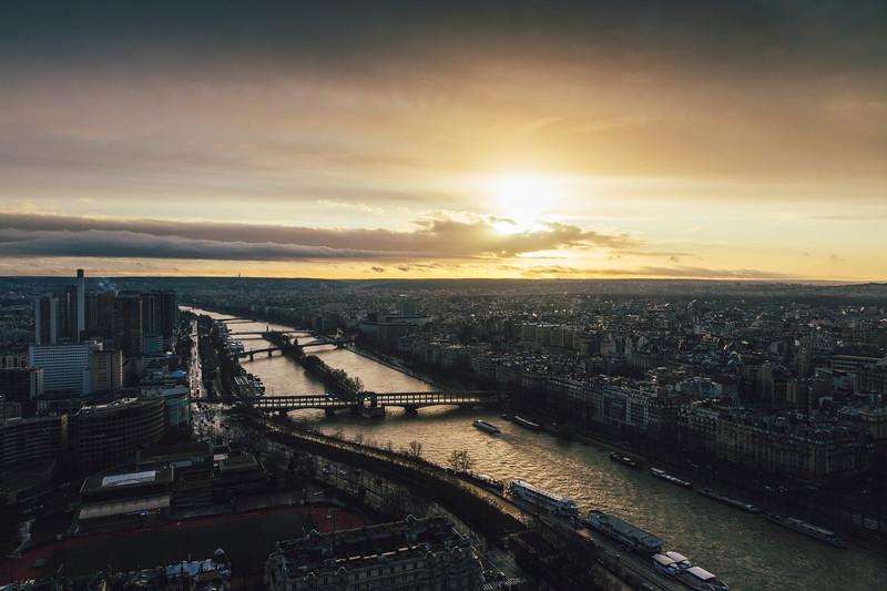 Seine River. Paris 2020