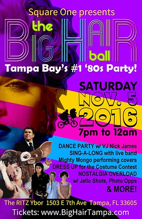 The BIG HAIR Ball: A Totally Tubular 80s Party