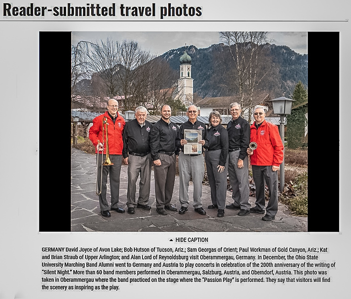 Our photo made the paper! (web version)