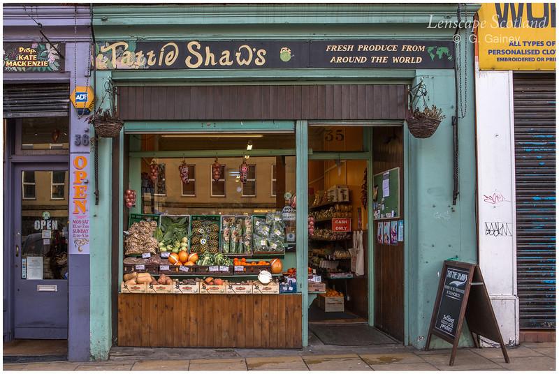 Tattie Shaws greengrocer & fruiterer, Elm Row