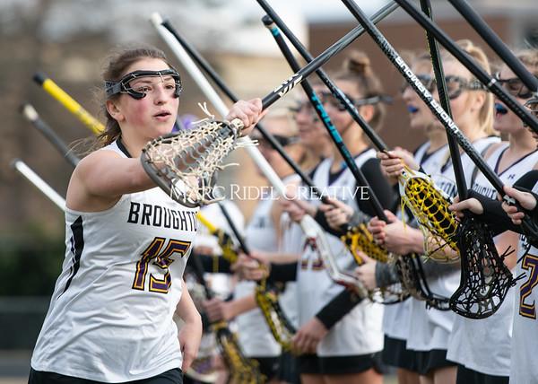 Broughton girls varsity lacrosse vs Middle Creek. February 28, 2020. MRC_5441