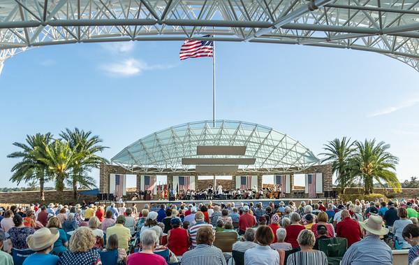 Pops Ochestra - Flags -  Vietnam Veterans at Patriot Plaza