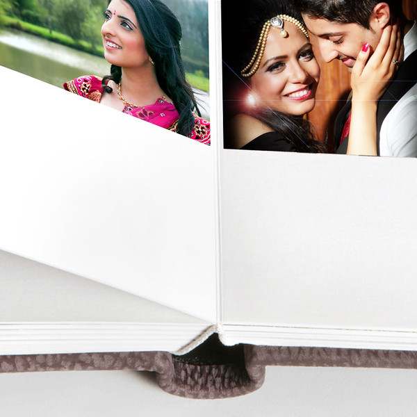 Queensbury Flushmount Wedding Albums by Nick Fowler