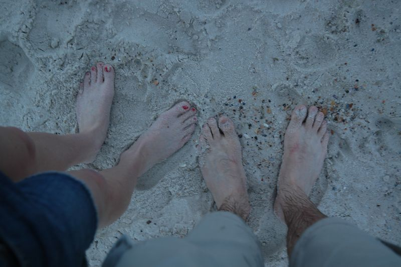 Feet in the sand part 2.