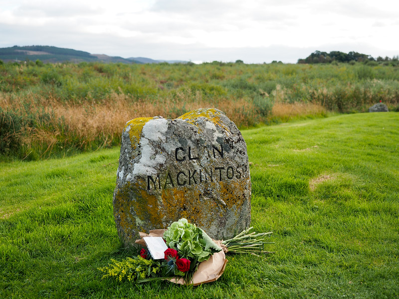 Clan gravestone at Culloden Battlefield