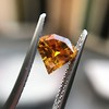 .84ct Fancy Deep Orange-Yellow Shield Shape Diamond, GIA 3