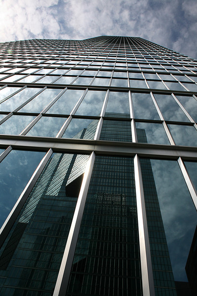 Glass towers in glass towers.