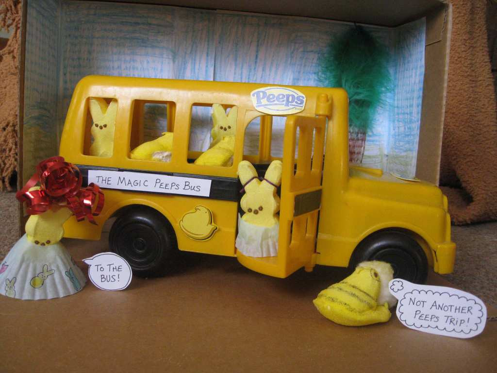 """. \""""The Magic Peeps Bus,\"""" by Audrey King, 6, and her mom, Emily"""