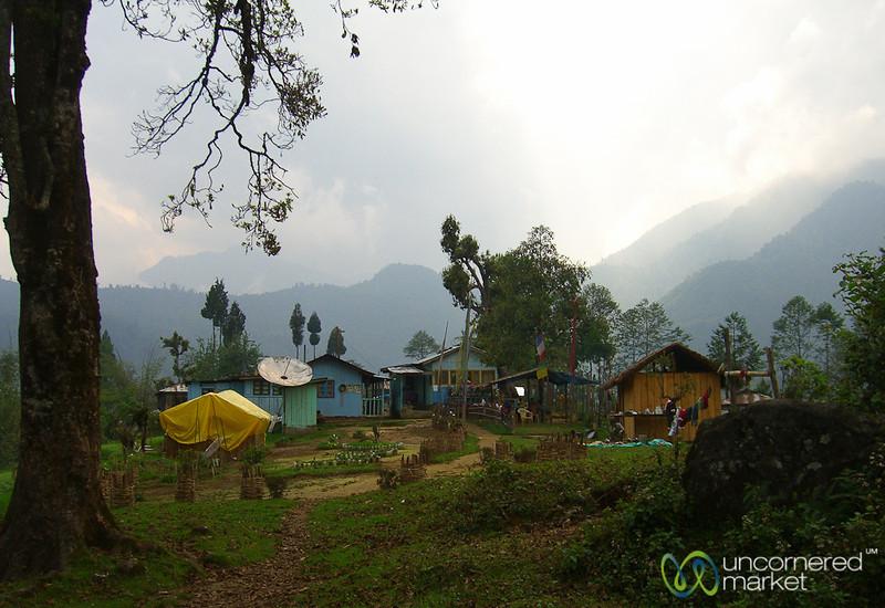 Tranquil Village Above Lake Khecheopalri - Sikkim