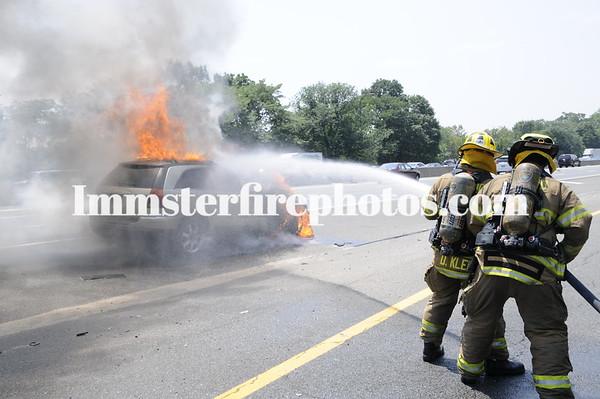 JERICHO FD LIE CAR FIRE 7-20-13