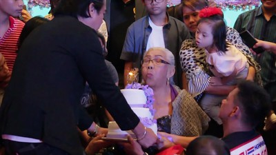 Lola Miming 90th Birthday