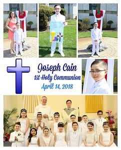 Joseph Cain Communion 2018