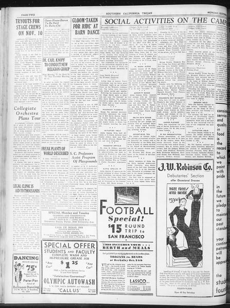 Daily Trojan, Vol. 23, No. 27, October 19, 1931