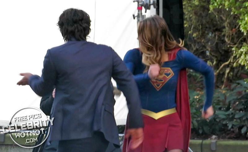 EXC: Supergirl Dancing Between Takes with Mr. Mxyzptlk!