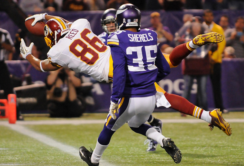 . Another angle on Washington tight end Jordan Reed\'s diving touchdown. (Pioneer Press: John Autey)