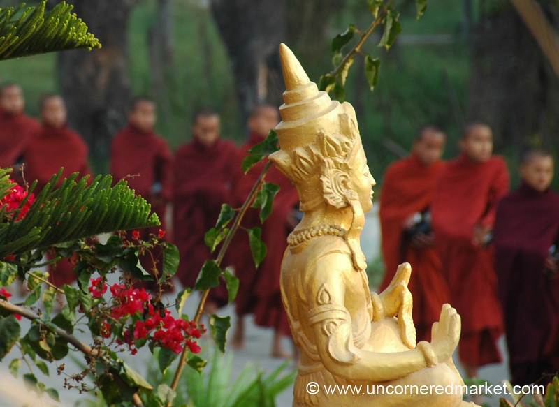 Buddha and the Monks - Inle Lake, Burma
