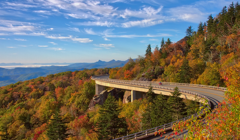 Fall Colors by Linn Cove Viaduct
