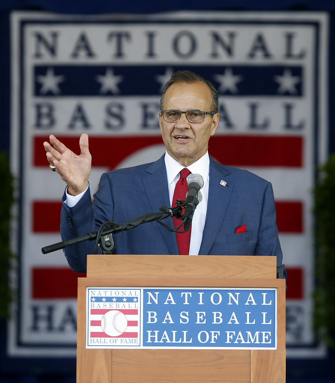 ". <p><b> Former New York Yankees manager Joe Torre profusely apologized after his hall of fame speech because he forgot to mention his deep gratitude to � </b> </p><p> A. George Steinbrenner </p><p> B. His family and friends </p><p> C. The Hair Club for Men </p><p><b><a href=""http://www.nydailynews.com/sports/baseball/yankees/joe-torre-feels-terrible-george-steinbrenner-hof-speech-article-1.1882029\"" target=\""_blank\"">LINK</a></b> </p><p>   (AP Photo/Mike Groll)</p>"