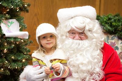 Christmas 2010- Reese & Zoe Meet Santa