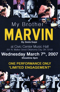"""My Brother Marvin"" by Zeola Gaye March 7, 2007"