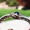 4.50ctw Sapphire and Diamond Serpent Bangle 16