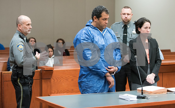 11/21/17 Wesley Bunnell | Staff Carlos Gonzalez-Oliver, 41, was arraigned in New Britain Superior Court in front of Judge Joan Alexander on Tuesday afternoon in connection with a fatal stabbing on Monday night at a rooming home on North Street.