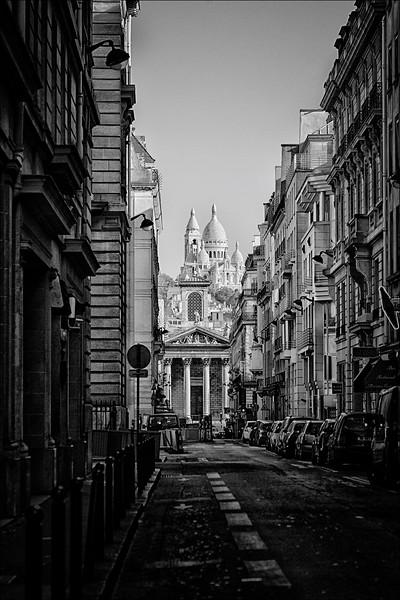 Side street view of Sacre Coeur