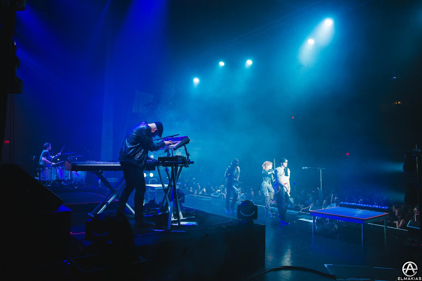Gavi jamming on the Shatter Me Tour by Adam Elmakias