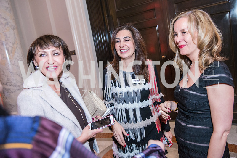 Farrah Javid, Forough Parvizian Yazdani, Roshan Alavi, Iranian-American Nowruz Reception, Washington, DC, Carnegie Institute of Science, March 15, 2018.  Photo by Ben Droz.