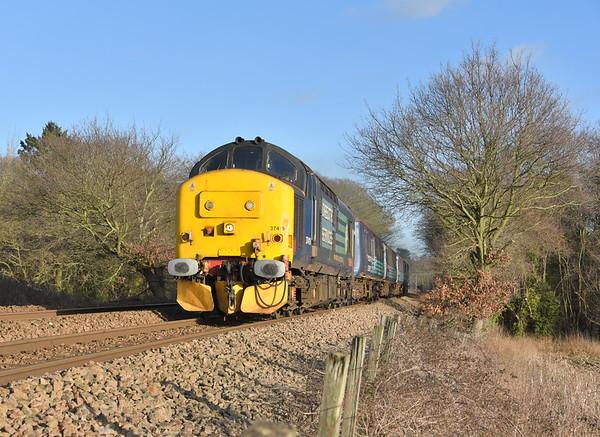 Anglia Class 37s; 15/01/18 - 17/01/18.
