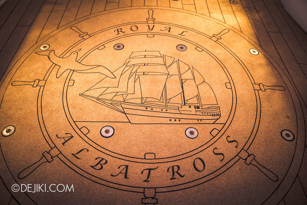 Royal Albatross Tall Ship Cruise - Special flooring