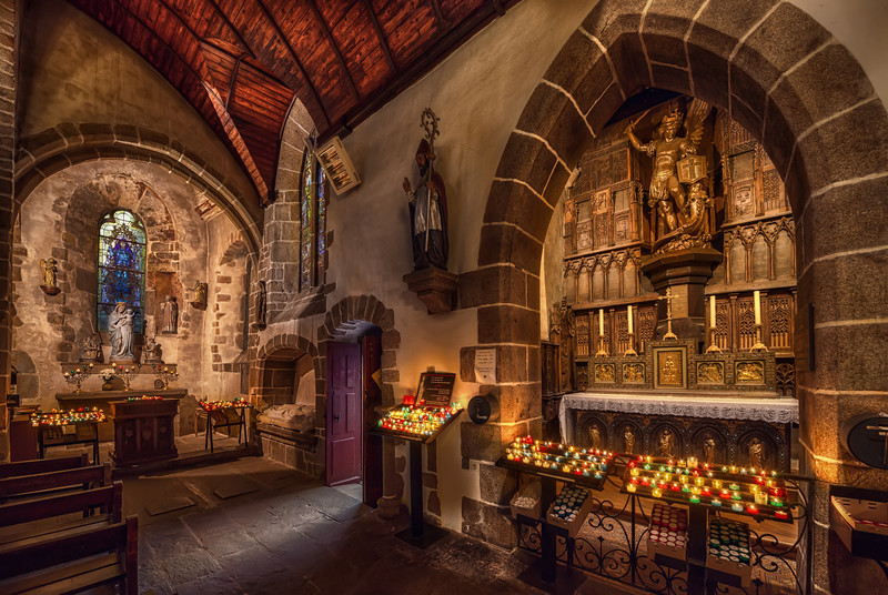 Church in Mont Saint Michel