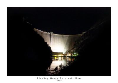 Flaming Gorge Reservoir Dam, Utah