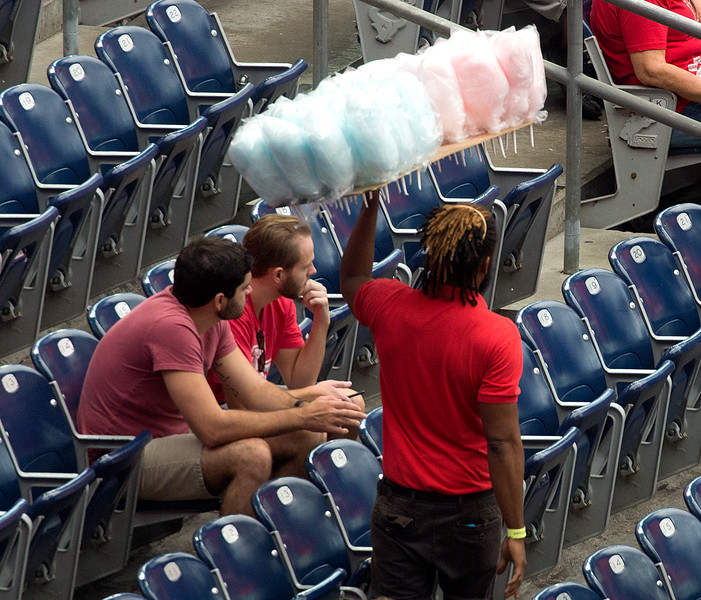 ... and candy floss is being sold.