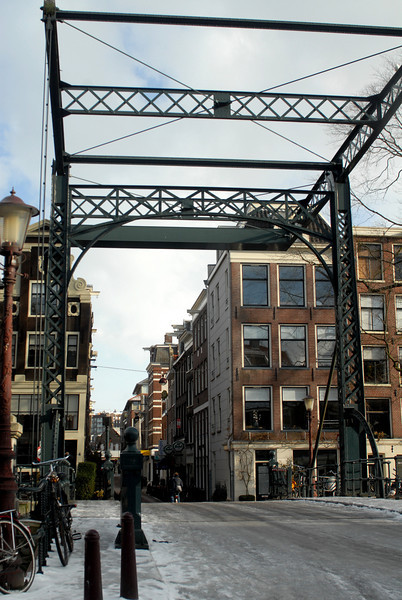 Just one of thousands of canal bridges in Amsterdam.