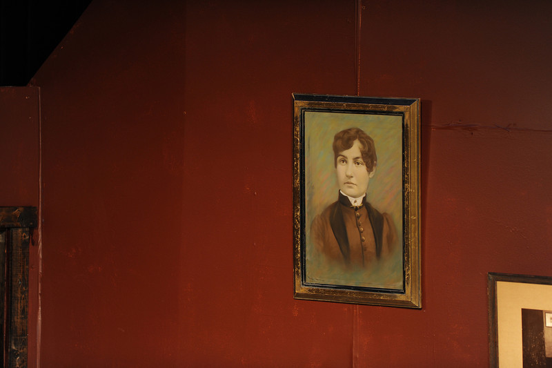 I heard Jason remark that this portrait reminded him a little too much of Lizzie Borden. That's exactly what I had thought when I saw it!